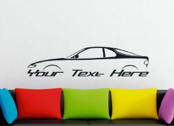 Large Custom car silhouette wall sticker - for Toyota Celica Liftback 5th gen ST182 /T180 classic